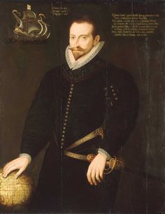1596 James Lancaster of the East India Company, Unknown Artist,  Location: National Maritime Museum.