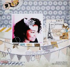 Layout made with the #epiphanycrafts Shape Studio Tool Oval.  www.epiphanycrafts.com #mymindseye #octoberafternoon #scrapbook