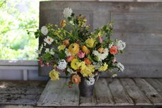 Ranunculus, tulips, viburnum, narcissus, crabapple, currant, kale flowers, leucojum and hellebores