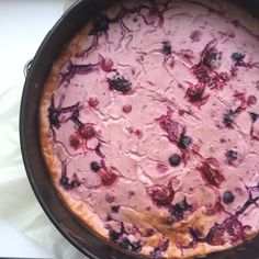 Healthy bosvruchten cheesecake