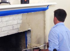 Resurface a Fireplace with Stucco More