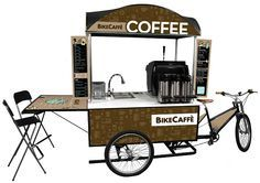 Coffee to go Food Cart Design, Food Truck Design, Kiosk Design, Cafe Design, Food Trucks, Coffee Food Truck, Mobile Coffee Shop, Mobile Coffee Cart, Bike Cart