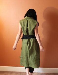 obi on linen dress