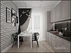 Кухня в скандинавском  стиле. Кухня