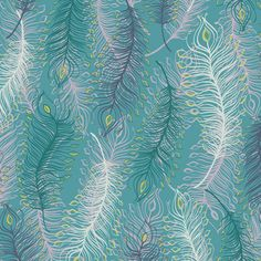 PaisleyFeathers_A fabric by modernprintcraft (Elizabeth Halpern) on Spoonflower - custom fabric