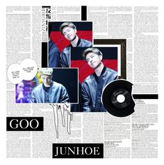 """""""•°☆●○'⠀⠀⠀GOO JUNHOE.⠀⠀⠀'○●☆°•"""" by infireds ❤ liked on Polyvore featuring McGinn, CO, Lara and CHESTERFIELD"""