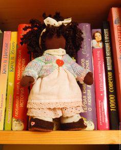 Купить Куколка Катти - розовый, коричневый, шоколад, парижанка, кукла, кукла ручной работы