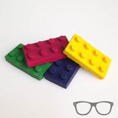 Brick wax crayons by Mini Geek Boutique