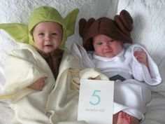 Keat is going with a Star Wars costume again...so baby costumes...check!