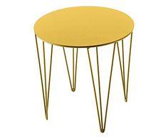 Atipico pufs y mesas: Mesa de hierro, amarillo – 35x35