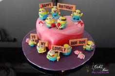 Minions Heart Shaped Cake – CAK3 BOX