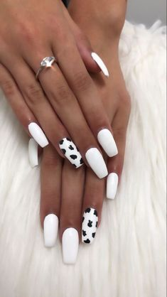Matte Nails Acrylic, Simple Acrylic Nails, Acrylic Nails Coffin Short, Summer Acrylic Nails, Simple Nails, Summer Nails, Cute Acrylic Nail Designs, Gel Nail Designs, Cow Nails