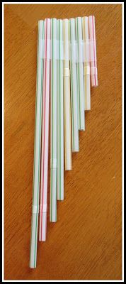 Making fun (and usable!) simple pan flutes with bendy straws!