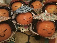Traktatie Mandarijn gezichtjes / treat mandarin faces