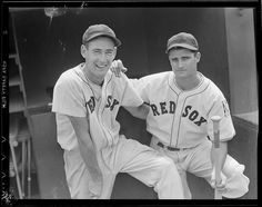 Ted Williams and Bobby Doerr: 1939 (approximate). My hubbys favorite, Ted Williams, he could hit the ball