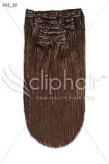 20 Inch Full Head Remy Clip in Human Hair Extensions - Darkest Brown (#2) | £44.99 | Visit: http://www.cliphair.co.uk/20-Inch-Full-Head-Set-Clip-In-Hair-Extensions-Darkest-Brown-2.html