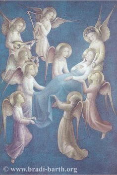 Bradi-Barth  _ L'Assomption de la Très Sainte Vierge Marie Blessed Mother Mary, Blessed Virgin Mary, Religious Paintings, Religious Art, Hail Holy Queen, Hail Mary, La Vie Des Saints, Catholic Pictures, Queen Of Heaven