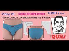 PATRONES 7002 BÓXER BÁSICO HOMBRE. VIDEO 22 TOMO 2 Curso de ropa intima - YouTube