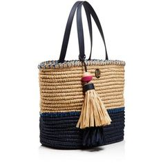 Tory Burch Small Straw Tote