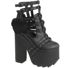 Inked Boutique -  CRAMPS-05 Platform Caged Ankle Boot Goth Nugoth Punk www.inkedboutique.com   Sensational position