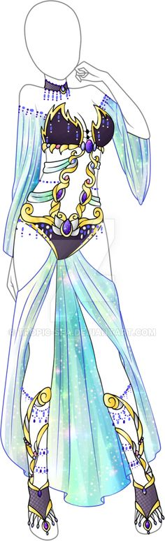 Dress Adoptable 03 - CLOSED by Tropic-Sea.deviantart.com on @DeviantArt