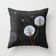 Dandelion Photography Accent Pillow Printed Pillow Cover Black and White Modern Floral Throw Pillow Home & Office Decor Custom Pillow Cases, Throw Pillow Cases, Floral Throw Pillows, Accent Pillows, Cushion Covers, Pillow Covers, Cushion Pillow, Home By, Guitar Collection