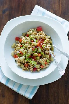 Pasta salad with lima beans and anchovies - Primavera Kitchen
