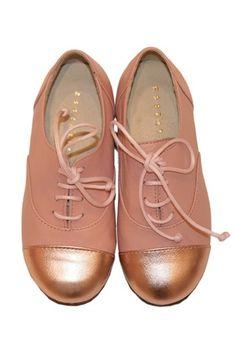 little girl gold cap shoes