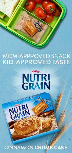 Mom-Approved Crumb Cake Snack -There's nothing more comforting than sending your kids to school with a snack you know is just as tasty as it is wholesome. With the whole grain goodness and delicious taste of Nutri-Grain Bakery Delights Cinnamon Crumb Cakes, lunchtime just got a whole lot sweeter.