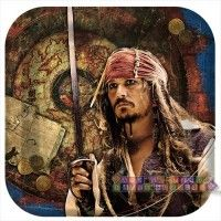 """Pirates of the Caribbean """"On Stranger Tides"""" Small Paper Plates  http://hardtofindpartysupplies.com/Pirates-of-the-Caribbean-childrens-birthday-party-supplies/Pirates-Caribbean-Stranger-Tides-Movie-Small-Paper-Plates-Cake"""