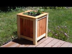 Build an easy, inexpensive wood planter box good pallet wood project
