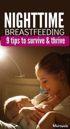 """""""My newborn wants to nurse all night!"""" is all I could think as a new mom. These breastfeeding at night tips helped save my sanity at nighttime. If you have a baby, you need these!"""