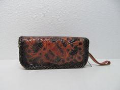 vtg CLIFTON'S GENUINE BROWN LEATHER WRISTLET CASE CLUTCH FLOWERS EMBOSSED UNIQUE | Clothing, Shoes & Accessories, Women's Handbags & Bags, Handbags & Purses | eBay!
