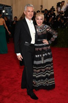 Baz Luhrmann and Catherine Martin at the 2015 Met Gala.