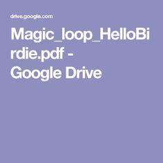 Magic_loop_HelloBirdie.pdf - GoogleDrive