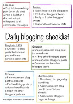12 Daily blogging ch