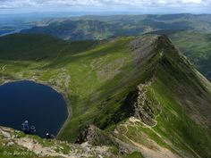 Striding Edge, Helvellyn, Cumbria - a favourite walk in the Lake District with great views and a touch of excitement! Beautiful World, Beautiful Places, Beautiful Pictures, Places To Travel, Places To See, Places In England, Places Of Interest, English Countryside, Lake District