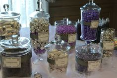 Lavender And Gray baby shower candy station