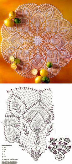 Crochet Table Runner Pattern, Free Crochet Doily Patterns, Crochet Mandala, Crochet Shawl, Crochet Doilies, Crochet Stitches, Diy Flowers, Tatting, Needlework