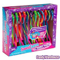 Just found Wonka SweeTarts Candy Canes: Box Thanks for the Bulk Candy, Candy Shop, Blue Punch, Online Candy Store, Sweetarts, Chewy Candy, Christmas Stocking Stuffers, Willy Wonka, Candy Apples