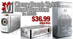 STUNNING! – Cherry Bomber Mech Mod Replica – $36.99