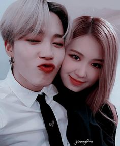 A boygroup named BTS becomes the rival of a monster rookie girlgroup BLACKPINK. The competition between them leads to pure hatred between the two groups. Will this hatred continue forever? or Will love change their feelings for eachother? Kpop Couples, Cute Couples, Bts Girlfriends, 17 Kpop, My Ex Girlfriend, Foto Jimin, Bts Imagine, Blackpink And Bts, Couple Aesthetic