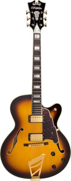 D'Angelico Excel DH Archtop Electric Guitar Vintage Sunburst