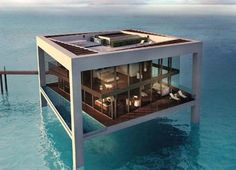 Ultramodern luxurious house on water