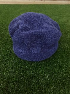 d7ea6558e9b Vintage 90 s Blue Bucket Hat   Floppy Crocheted   Dad Hat   Festival Gear    Vintage   Blue