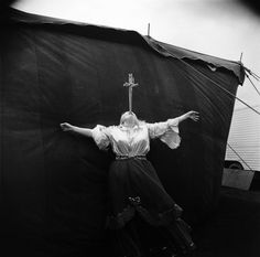 Albino sword swallower at a carnival, Md. 1970. © 1972 The Estate of Diane Arbus, LLC