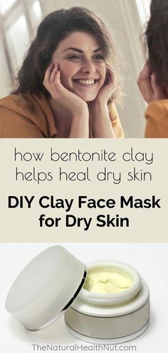 Try this DIY Clay Face Mask for Dry Skin to help heal and soothe your dry kin. #BeautySecretsForFace #DarkSpotsOnFace Mask For Dry Skin, Dry Skin On Face, Moisturizer For Dry Skin, Skin Mask, Oily Skin, Greasy Skin, Homemade Moisturizer, Homemade Facials, Bentonite Clay Mask