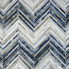 Wow, so pretty! New Ravenna Mosaics, ombre chevron Beadboard Backsplash, Herringbone Backsplash, Backsplash Ideas, Stove Backsplash, Rustic Backsplash, Black Backsplash, Floor Patterns, Tile Patterns, Floor Design