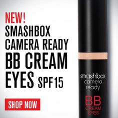 Smashbox - Camera Ready BB Cream Eyes Broad Spectrum SPF 15 --> What it is:An innovative eye cream that features all the benefits of a traditional BB cream.  What it does:Simplify your beauty routine with this do-it-all formula that comes in a range of shades and combines the benefits of BB Cream with the coverage of concealer. It fades the look of dark circles instantly and over time, reduces the appearance of puffiness, visibly smoothes fine lines and wrinkles, and improves firmness. It…
