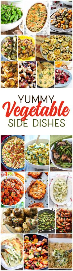 I'm trying to add more veggies into my diet and these vegetable side dishes look amazing! Maybe I can do it. :)